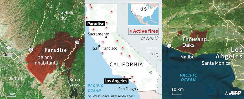 Photo of დაღუპულია 58 ადამიანი, 130-ს ეძებენ, პრეზიდენტმა ტრამპმა კალიფორნია სტიქიური უბედურების ზონად გამოაცხადა