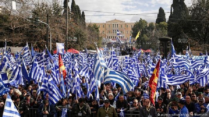 """Photo of 100 ათასზე მეტმა ბერძენმა გააპროტესტა ყოფილი იუგოსლავიის რესპუბლიკისთვის """"ჩრდილოეთ მაკედონიის"""" დარქმევა"""