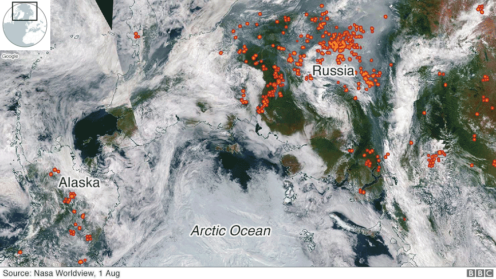 Photo of BBC: არქტიკა არა მხოლოდ დნება, არამედ ცეცხლშია
