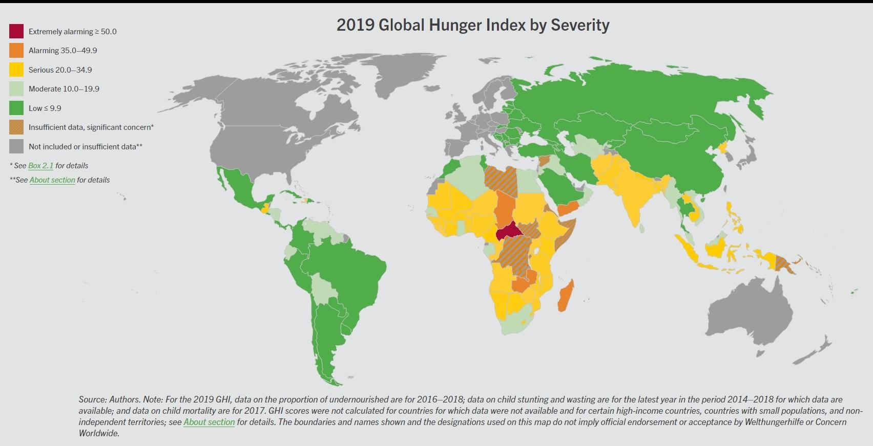 """Photo of გამოქვეყნდა """"შიმშილობის მსოფლიო ინდექსი 2019"""", საქართველო 39-ე ადგილზეა"""