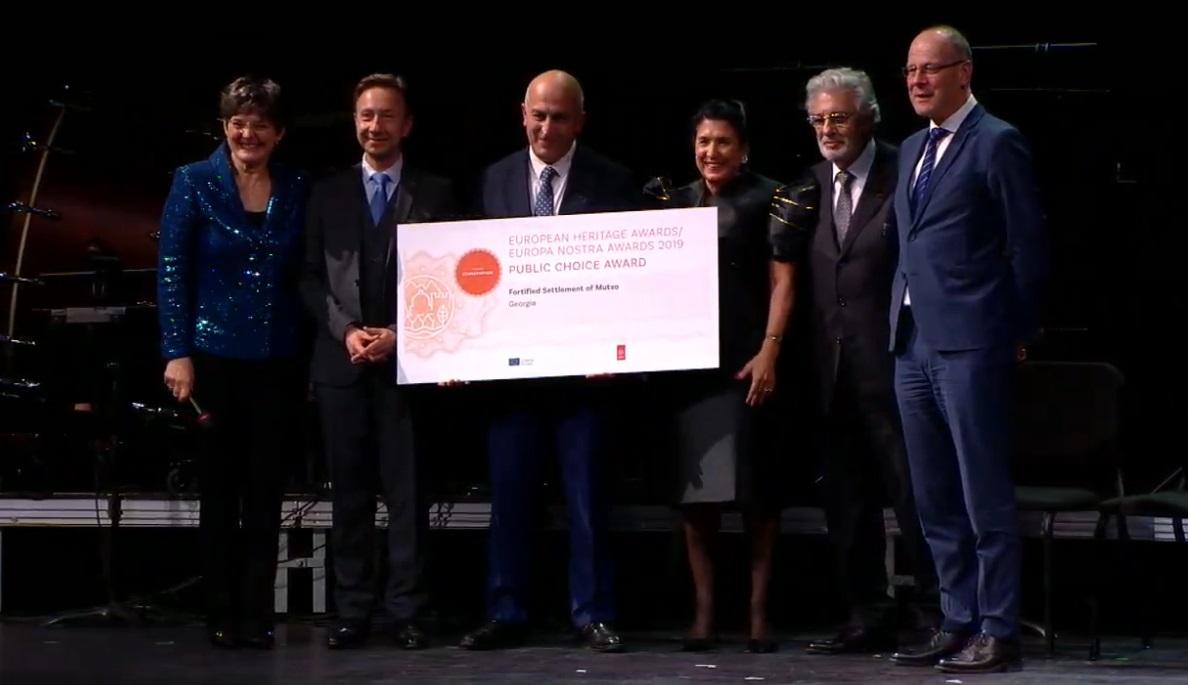 """Photo of ევროპა ნოსტრას დაჯილდოებაზე მუცოს პროექტმა """"საზოგადოების რჩეულის"""" ნომინაციაში გაიმარჯვა!"""