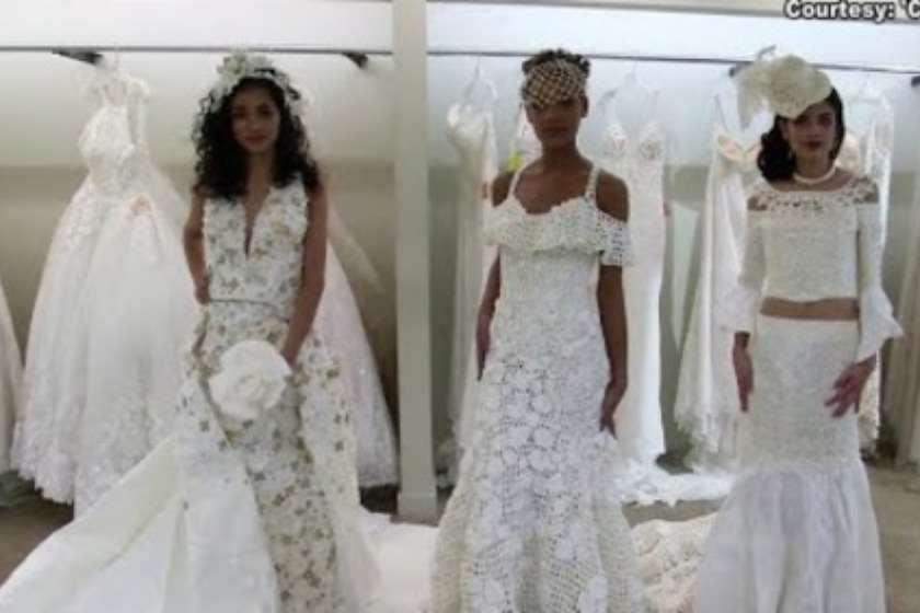 Photo of ნიუ-იორკში ტუალეტის ქაღალდისგან დამზადებული საქორწილო კაბების ჩვენება გაიმართა (ვიდეო)