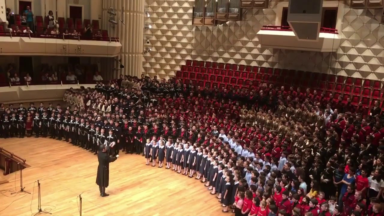 """Photo of 600 ბავშვის ნამღერი """"მრავალჟამიერი"""" (ვიდეო)"""