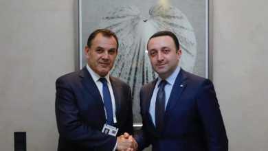 Photo of ირაკლი ღარიბაშვილი საბერძნეთის თავდაცვის მინისტრს შეხვდა