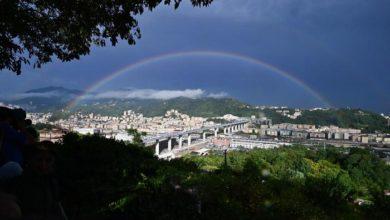 Photo of გენუაში ახალი ხიდის გახსნისას ცაზე ცისარტყელა გამოისახა – ვიდეო