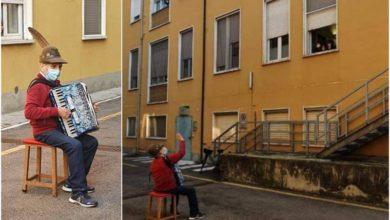 Photo of როგორ ამხნევებს 81 წლის იტალიელი მამაკაცი საავადმყოფოს ეზოდან კოვიდინფიცირებულ ცოლს (ვიდეო)