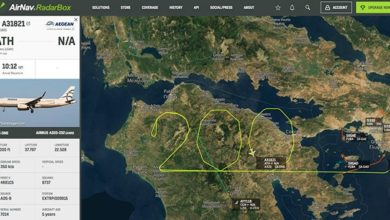 """Photo of საბერძნეთის რევოლუციის იუბილე – AEGEAN-ის თვითმფრინავმა პელოპონესის თავზე რიცხვი 200 """"დახატა"""""""