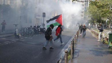 Photo of ათენში პალესტინელთა მხარდამჭერი აქციის მონაწილეების წინააღმდეგ პოლიციამ ცრემლსადენი გაზი და წყლის ჭავლი გამოიყენა