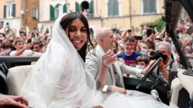 "Photo of ევრო-2020-ზე იტალიის გამარჯვების გოლის ავტორი ბერნადესკი დაქორწინდა და ჯვრისწერაზე უამრავი ფანი ""დაესხა"" თავს (ვიდეო)"