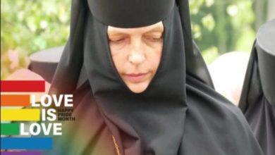 """Photo of """"TV პირველის"""" მიერ გავრცელებული ფოტო, რომელზეც თითქოს ასახულია LGBTQ-ს მხარდამჭერი მონაზონი მარიამი, FAKE აღმოჩნდა – ვის ეკუთვნის ფოტო"""
