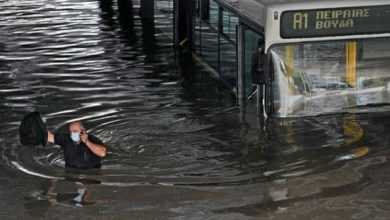 "Photo of ციკლონი ""ბალოსი"" საბერძნეთში – ძლიერი წვიმის შედეგად ათენისა და თესალონკის ქუჩები დაიტბორა (ვიდეო)"